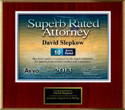 david slepkow's avvo rating