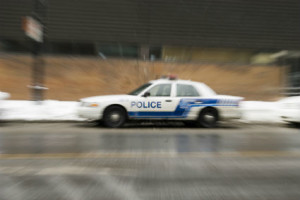 High speed police chase accident in Rhode Island